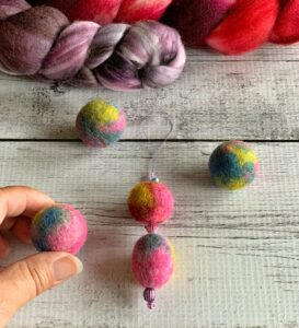 Felted Beads
